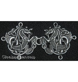 Cloak and Dagger Creations Celtic Seahorse Cloak Clasp - Pewter
