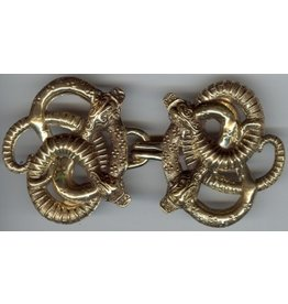 Celtic Snakes Large Cloak Clasp - Jewelers Bronze