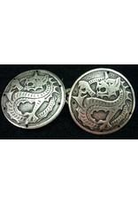 Cloak and Dagger Creations Dragon Medallion Cloak Clasp - Antique Silver