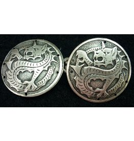 Cloak and Dagger Creations Dragon Medallion Cloak Clasp - Antique Silver