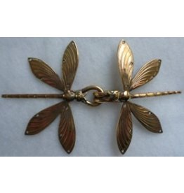 Dragonfly Double Cloak Clasp - Jewelers Bronze