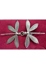 Cloak and Dagger Creations Dragonfly Double Cloak Clasp - Silver Tone Plated