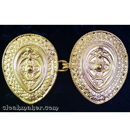 Cloak and Dagger Creations Etruscan Cloak Clasp - Gold Tone Plated