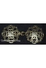 Cloak and Dagger Creations Filigree Quatrefoil Cloak Clasp - Antique Gold Tone Plated