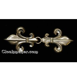 Cloak and Dagger Creations Fleur de Lis Classic Cloak Clasp - Jewelers Bronze