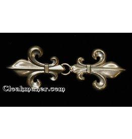 Fleur de Lis Classic Cloak Clasp - Jewelers Bronze
