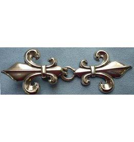 Cloak and Dagger Creations Fleur de Lis Classic Cloak Clasp - Silver Tone Plated