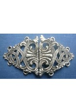 Cloak and Dagger Creations Formal Renaissance Knotwork Cloak Clasp - Pewter