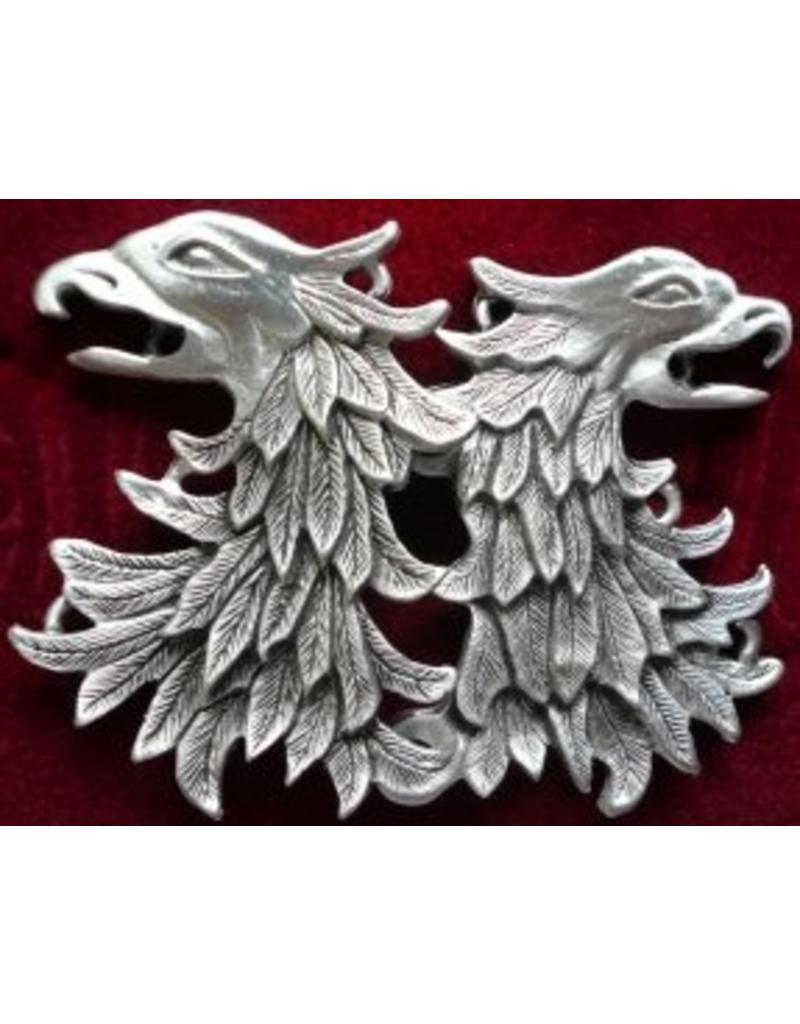 Cloak and Dagger Creations Griffon Head / Double Eagle Cloak Clasp - Pewter