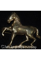 Cloak and Dagger Creations Horse, Prancing Cloak Clasp - Antique Bronze Tone Plated