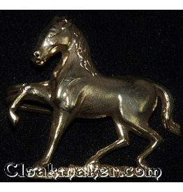 Horse, Prancing Cloak Clasp - Antique Bronze Tone Plated