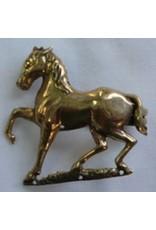 Cloak and Dagger Creations Horse, Prancing Cloak Clasp - Raw Bronze