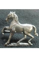 Cloak and Dagger Creations Horse, Prancing Cloak Clasp - Silver Tone Plated