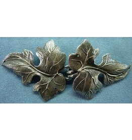 Ivy, Curly Cloak Clasp - Silver Tone Plated