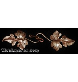 Cloak and Dagger Creations Ivy, Curly with J-Hook Cloak Clasp - Jewelers Bronze