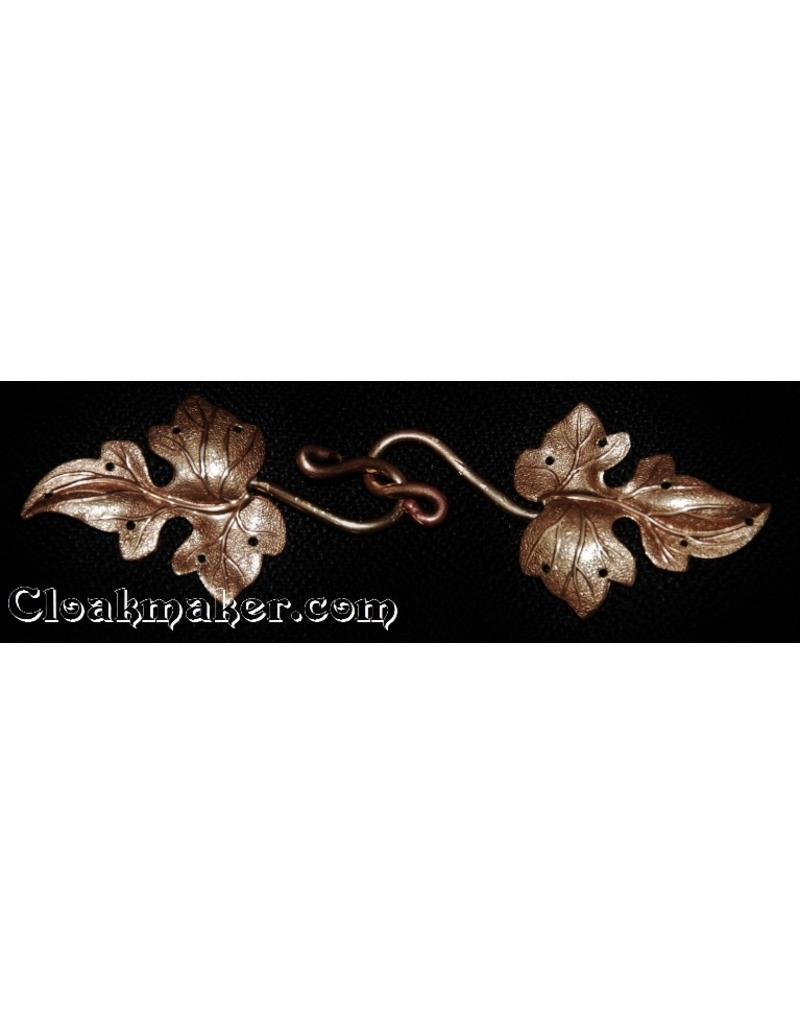 Cloak and Dagger Creations Ivy, Curly with J-Hook Cloak Clasp - Raw Bronze