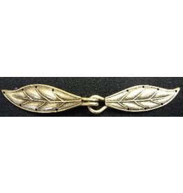 Cloak and Dagger Creations Laurel Cloak Clasp - Single - Silver Tone Plated