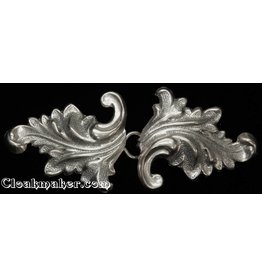 Cloak and Dagger Creations Acanthus Cloak Clasp - Silver Tone Plated