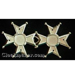 Cloak and Dagger Creations Maltese Cross Cloak Clasp - Large - Gold Tone Plated