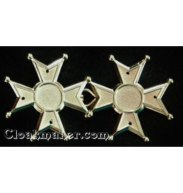 Maltese Cross Cloak Clasp - Large - Gold Tone Plated