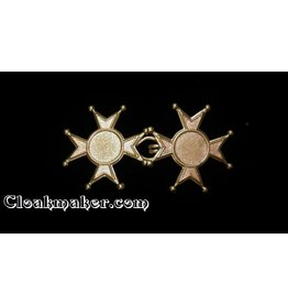 Cloak and Dagger Creations Maltese Cross Cloak Clasp - Small - Jewelers Bronze