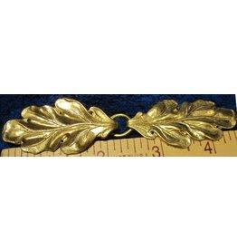 Oak - Simple Cloak Clasp - Jewelers Bronze