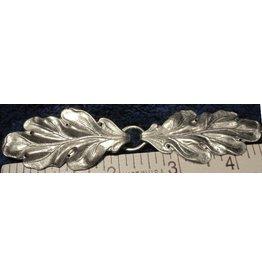Oak - Simple Cloak Clasp - Silver Tone Plated