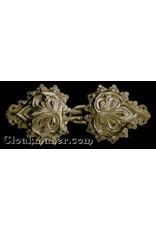 Cloak and Dagger Creations Palm Leaves Cloak Clasp - Jewlers Bronze