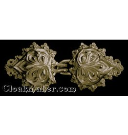 Cloak and Dagger Creations Palm Leaves Cloak Clasp - Jewlers Bronze