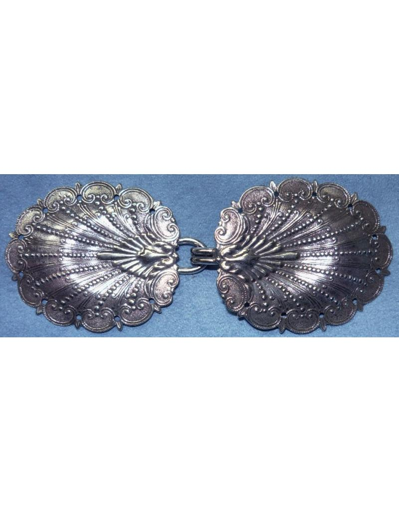Cloak and Dagger Creations Peacock Shell Cloak Clasp - Silver Tone Plated