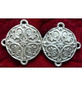 Renaissance Lotus Medallion Cloak Clasp - Pewter