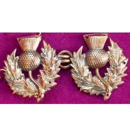 Cloak and Dagger Creations Scottish Thistle Cloak Clasp - Jewlers Bronze