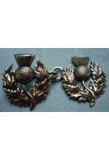 Cloak and Dagger Creations Scottish Thistle Cloak Clasp - Silver Tone Plated