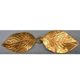 Shadbury Leaf Cloak Clasp - Jewlers Bronze
