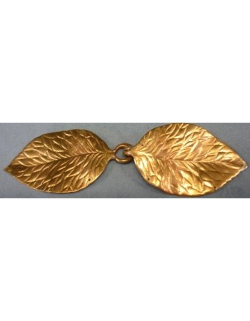 Cloak and Dagger Creations Shadbury Leaf Cloak Clasp - Jewlers Bronze