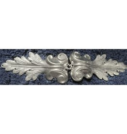 Victorian Flourish Extra Large Cloak Clasp - Silver Tone Plated