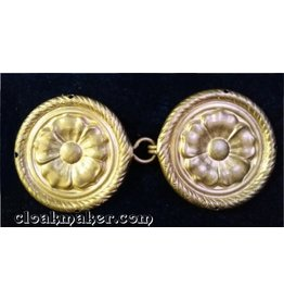 Tudor Rope Edge Cloak Clasp - Jewelers Bronze