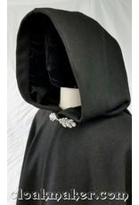 Cloak and Dagger Creations Oak - Simple Cloak Clasp - Silver Tone Plated