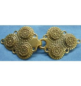 Triple Medallion Cloak Clasp - Gold Tone Plated