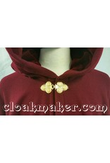 Cloak and Dagger Creations Triple Medallion Cloak Clasp - Gold Tone Plated