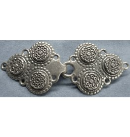 Triple Medallion Cloak Clasp - Pewter