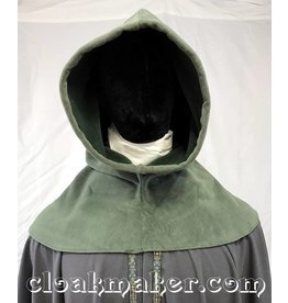 H153 - Sage Green WindPro Fleece Hooded Cowl - XL