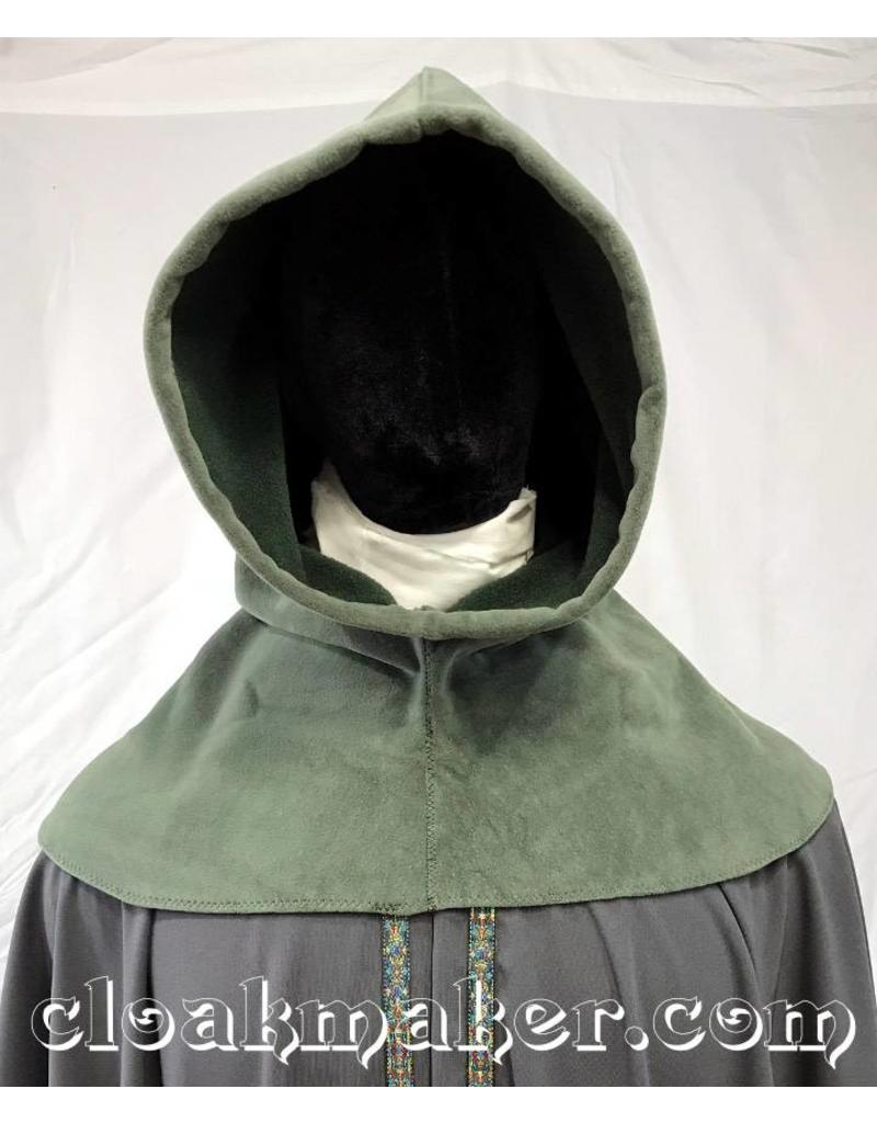 Cloak and Dagger Creations H153 - Hood in Sage Green Windpro Fleece, Heavyweight