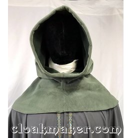 H154 - Sage Green WindBloc Fleece Hooded Cowl - XL