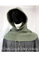 Cloak and Dagger Creations H154 - Hood in Sage Green WindBloc Fleece, Heavyweight