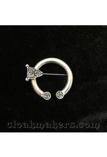 Cloak and Dagger Creations Pewter Round End Celtic Knot Penannular Brooch, Small