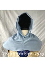 Cloak and Dagger Creations H155 – Hood in Light Blue Wool Blend, Mediumweight