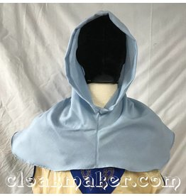 Cloak and Dagger Creations H155 – Light Blue Wool Hooded Cowl, Medium