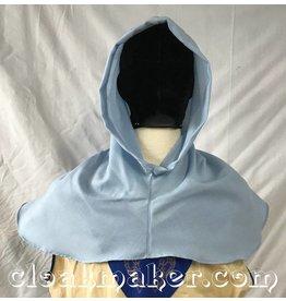 H155 – Baby Blue Wool Hooded Cowl, Medium