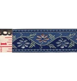 2-Tone Blue Floral Trim